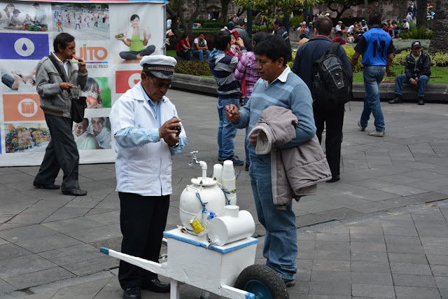 Main Square Quito selling icecream