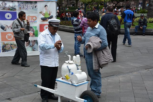 Main Square Quito selling icecream