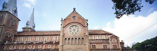 Kathedrale Notre-Dame. Ho Chi Minh Stadt. Vietnam