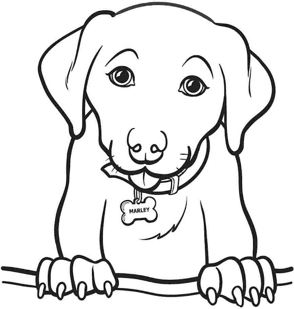 Cute Dogs Coloring Pages To Print Printable
