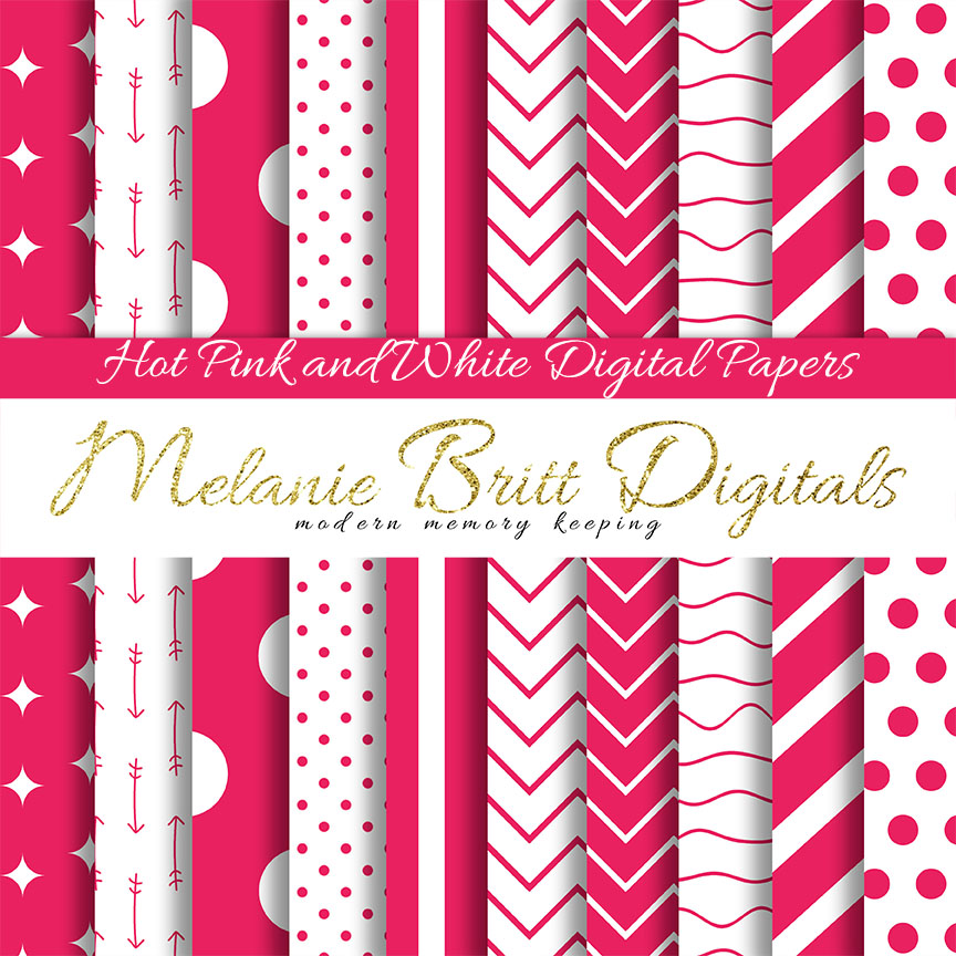 Melanie Britt Embracefesurney Hot Pink And White Digital