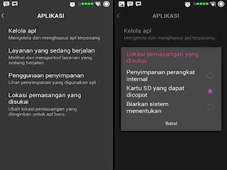 Cara instal aplikasi android di memori eksternal