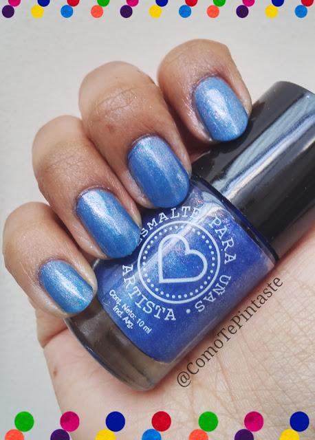 swatch esmalte artista azul