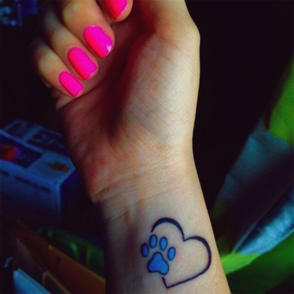Tatuagens de coração para as mulheres