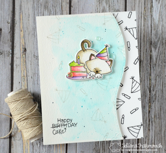 Happy Cake Day by Tatiana featuring Newton Loves Cake by Newton's Nook Designs, #newtonsnook