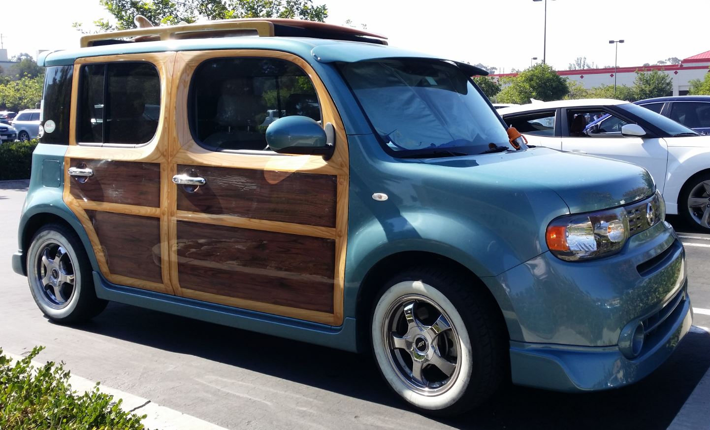 just a car guy even nissan cube owners like a woody look. Black Bedroom Furniture Sets. Home Design Ideas