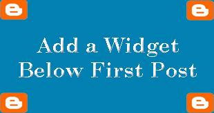 Widget-Below-First-Post