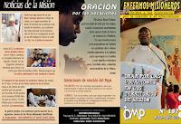 Enfermos misioneros, omp, oración misionera, noticias de la misión
