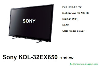 Sony KDL-32EX650 Full HD LED TV review