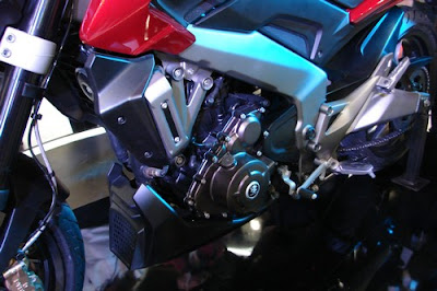 Bajaj Dominar 400 engine view