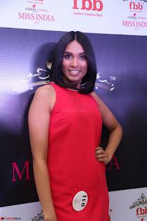 Spatika Surapaneni in Red Tight Dress at FBB Miss India 2017 finalists at Telangana auditions Feb 2017 (10).JPG