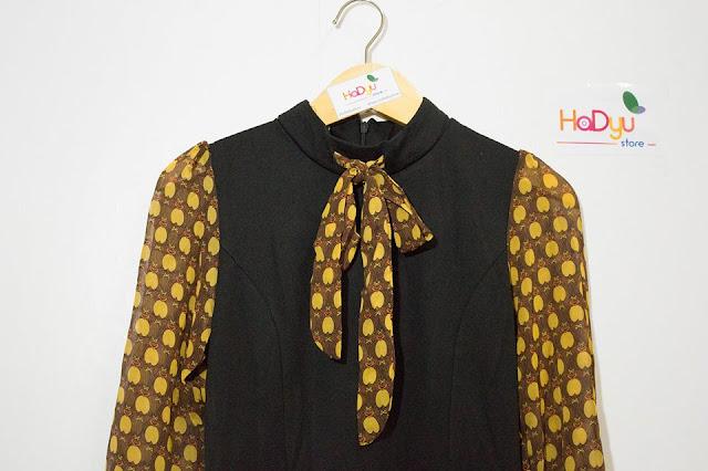 BubbleGirl - Đầm đen tay nơ chấm bi độc lạ của Hadyu Store