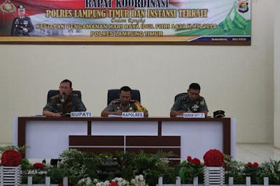 Jelang Lebaran, Polres Lampung Timur Siapkan Pengamanan