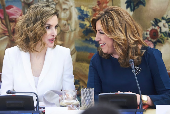 King Felipe and Queen Letizia attended a Meeting of the National Commission for the commemoration