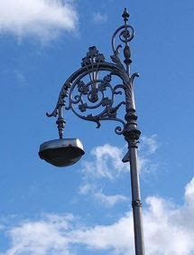 Dublin Ireland street light