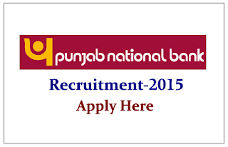 Punjab National Bank Recruitment 2015
