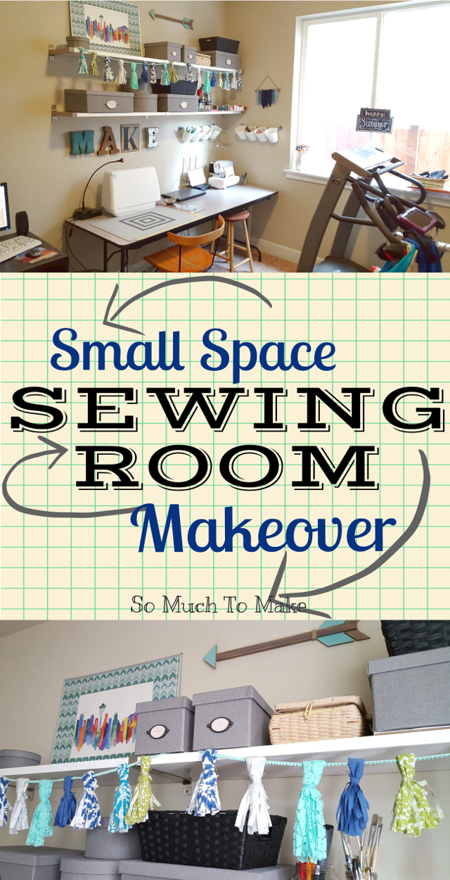 Small Space Sewing Room Makeover | So Much To Make