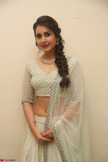 Raashi Khanan looks stunning in Crop Top Deep neck Choli Ghagra Transparent Chunni WOW ~  Exclusive Celebrities Galleries 146.JPG