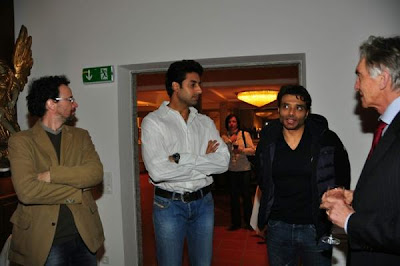 Aamir Khan, Abhishek & Uday Chopra at the Dhoom 3 promotion at Switzerland