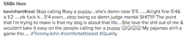 Your puppy is almost taller than you - Fans troll Kevin Hart over pic
