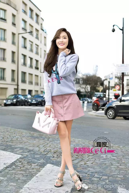 Now on Sale: Jessica's Sweatshirt and Skirt by Kenzo