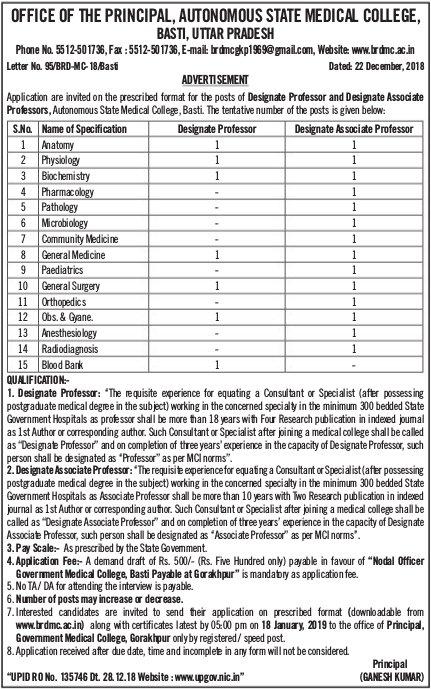 Basti-Govt-Medical-College-Uttarpradesh-recruitment-tngovernmentjobs