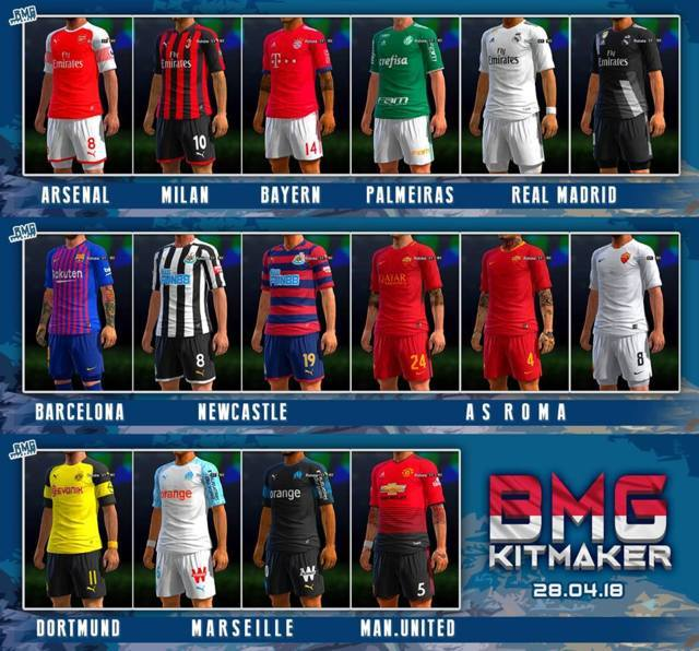 Mini Kitpack #28 April 2018 PES 2013