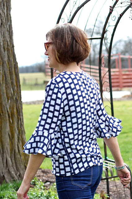 Style Maker Fabrics Spring 2017 tour - rayon challis blouse in McCall's 7542