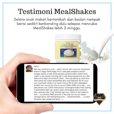 Testimoni Meal Shakes : Selera Anak Bertambah