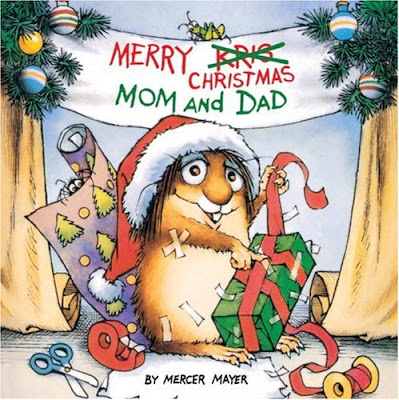 Little Critter Merry Christmas Mom and Dad, part of Favorite Character Christmas Book Review List for Kids