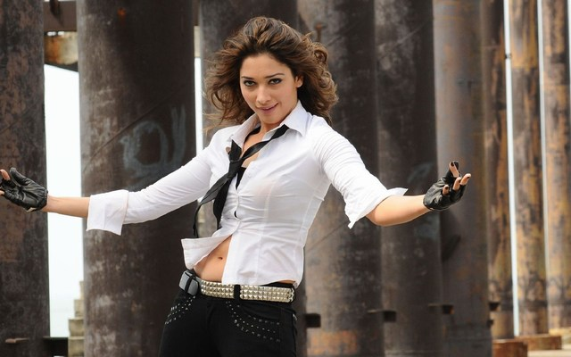 Beautiful Tamanna Images in White Shirt