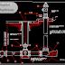 مخطط لشبكة الصرف الصحي اوتوكاد dwg