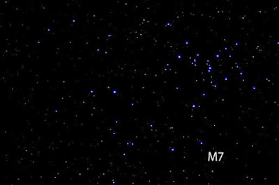 M7 shows up in telescope at Julian Star Party at Menghini Winery (Source: Palmia Observatory)