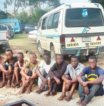 Zone 2 police arrest armed robbery gang terrorising 15 communities in Lagos and Ogun States (photo)