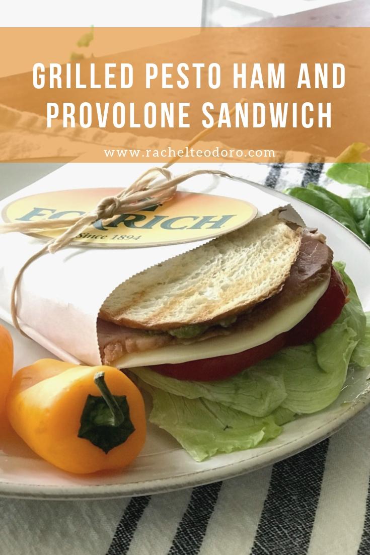 homemade deli sandwich with sourdough bread