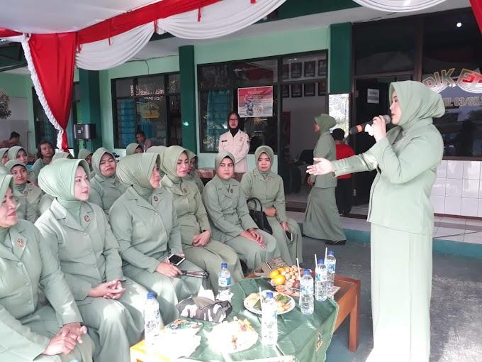 Ketua Persit Kodim Depok Kunjungi Koramil 03/Sukmajaya