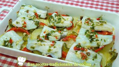 Receta fácil de bacalao muy jugoso con verduras