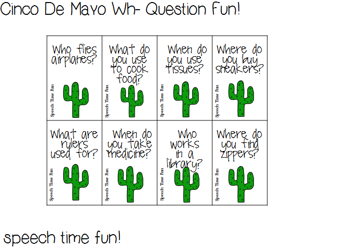 Cinco De Mayo Wh- Question Fun!