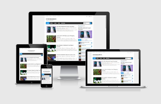 Update Template Tutor Magazine 3D Versi 1.0, Template Biru Paling Favorit