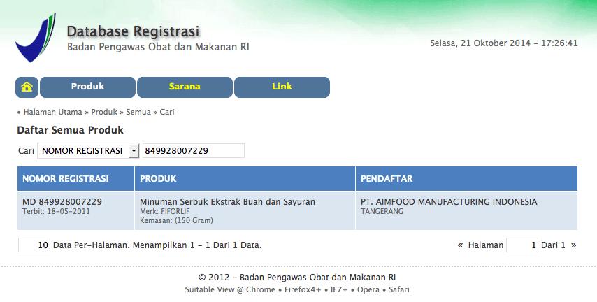 Stokis Foredi Bandung Pusat Fiforlif