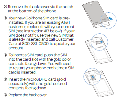 Installing the SIM/microSDHC Cards