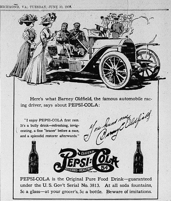Pepsi-Cola ad 1908