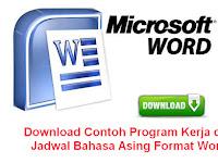 Download Contoh Program Kerja dan Jadwal Bahasa Asing Format Word