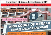 High Court Recruitment 2017– 35 Personal Assistant to Judge