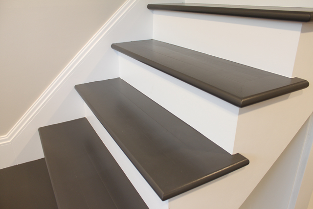 Basement Stair Trim: Painting Wood Basement Steps