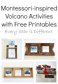 Volcano Activities for kids with free printables.