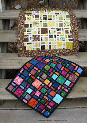 Mini Scattered quilt with or without a border at Freemotion by the River