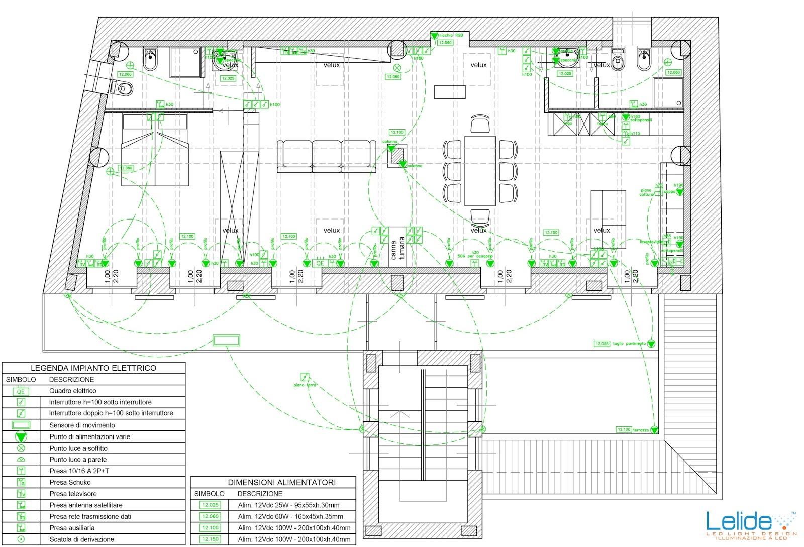 Illuminazione led casa il progetto illuminotecnico - Impianto elettrico casa ...