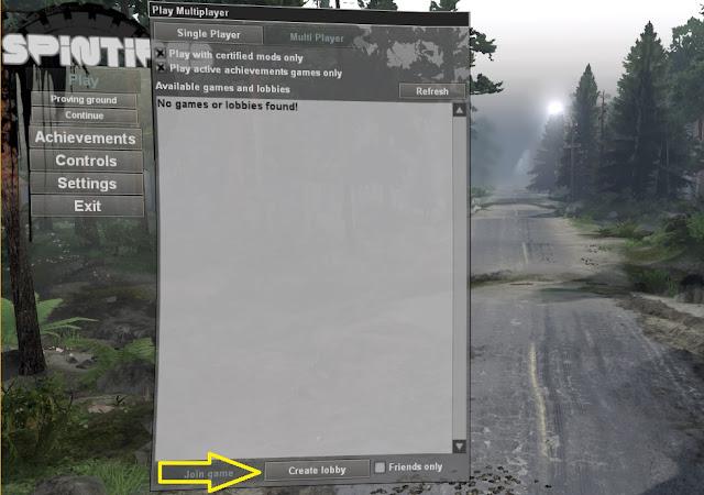 Cara Main Online Multiplayer Spintires Versi Bajakan