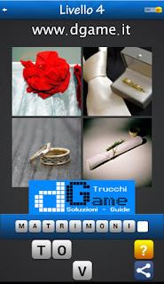Trova la Parola - Foto Quiz con 4 Immagini e 1 Parola pacchetto 1 soluzione livello 4
